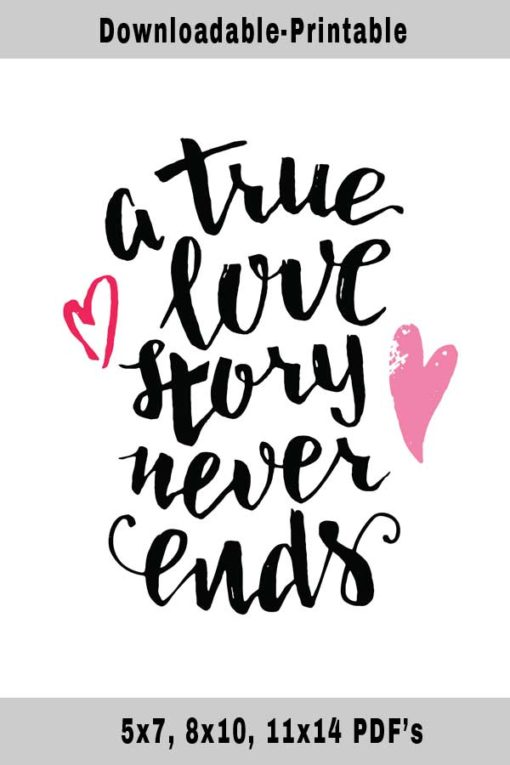 True Love Quotes and Soulmates-Free Printable