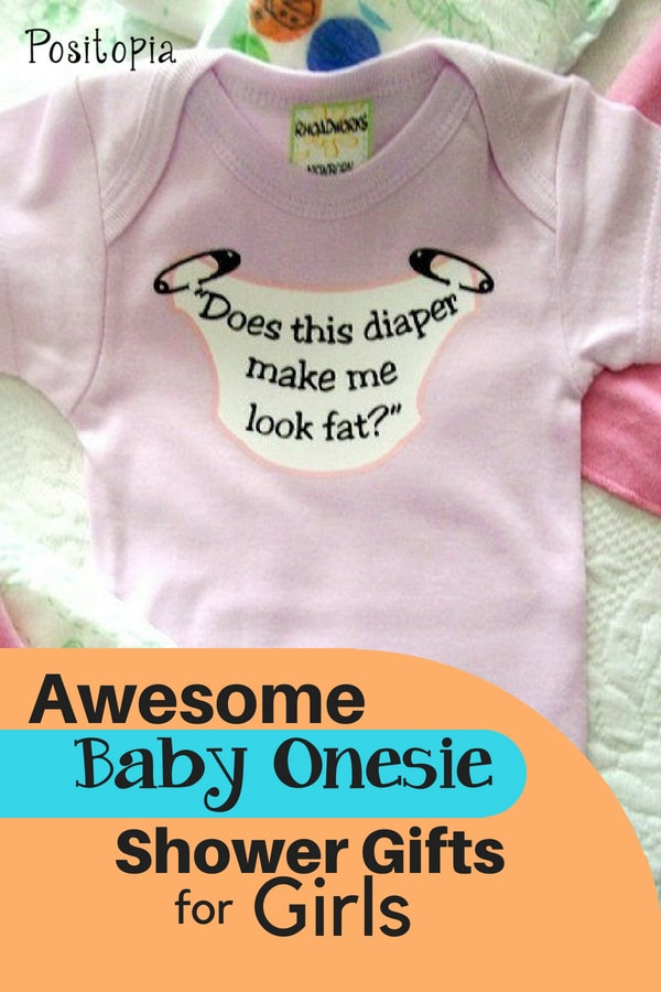 Baby onesie shower gift for girls