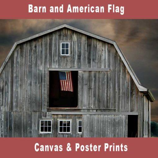 Barn and American Flag