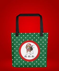 Christmas Beagle Dog Tote Bag