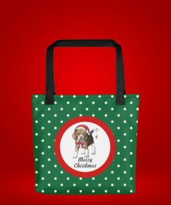 Christmas Baeagle Tote Bag Merry Christmas