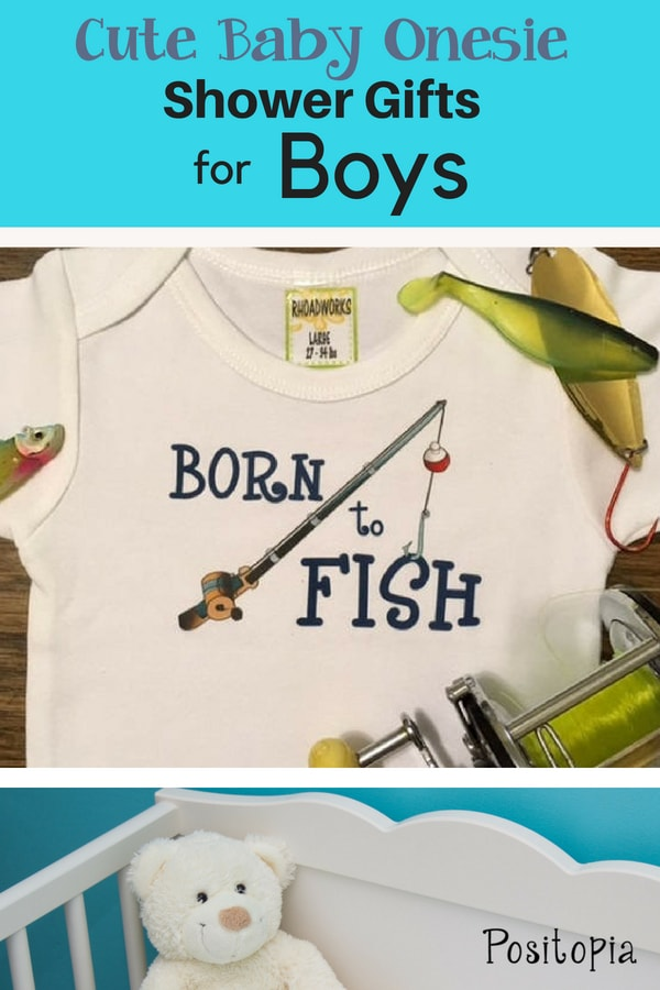 Cute baby onesie shower gift for boys