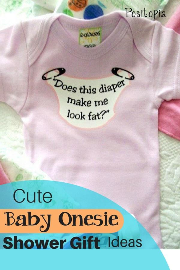 Cute Baby Onesie Shower Gifts Ideas