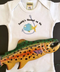 Daddy's Hooked on Me – Beach Baby Onesie