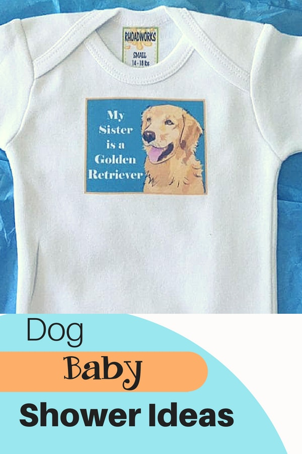 Dog baby onesie shower ideas