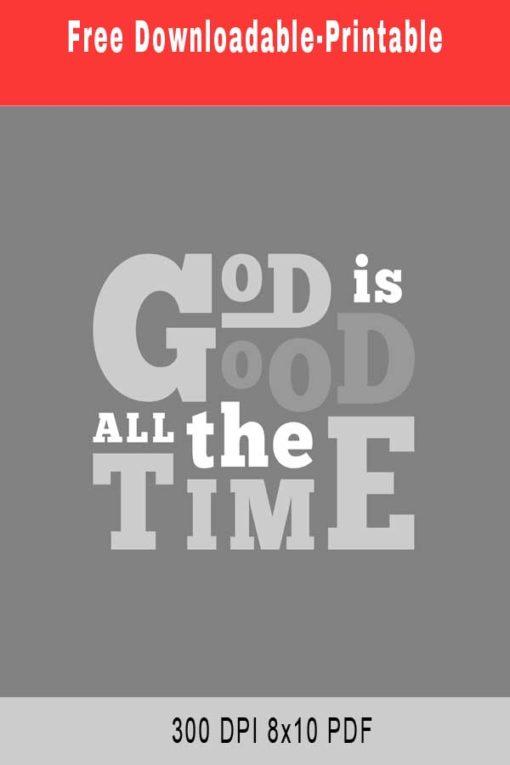 God Is Good – Printable