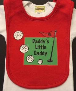 Golf Baby Bib Shower Ideas – Daddy's Little Caddy Bib