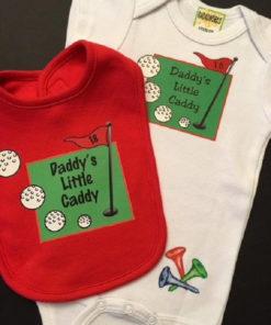 Daddy's Little Caddy Baby Onesie and Bib Set-Shower Gift
