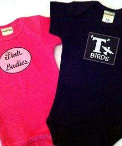 Twin Baby Onesies Shower Gift Ideas – Pink Lady and T Bird Twin Set