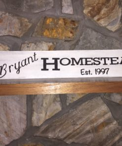 Rustic HOMESTEAD Last Name Established Sign | Customizable
