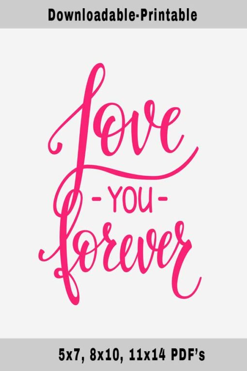 Love You-Free Printable Wall Art