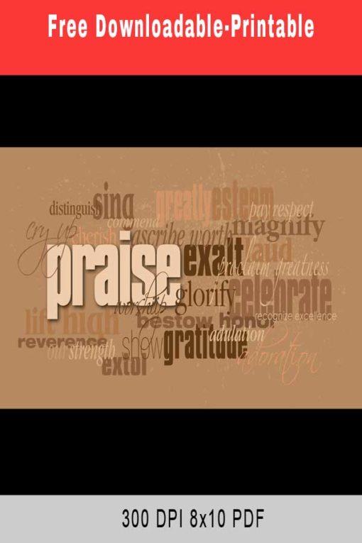 Praise Quotes Downloadable