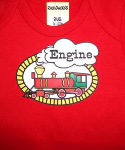 Funny Twin Baby Onesies- Engine Caboose