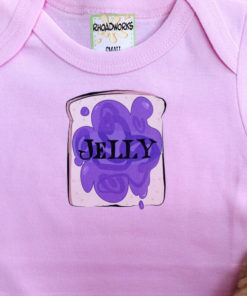 Twin Baby Onesies Set – Peanut Butter & Jelly