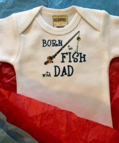 Born to Fish Baby Onesie