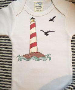 Lighthouse Baby Shower Ideas – Baby Onesie