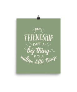 Our Friendship Isn't a Big Thing-Poster