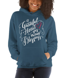 A Grateful Heart Sees Many Blessings-Hoodie